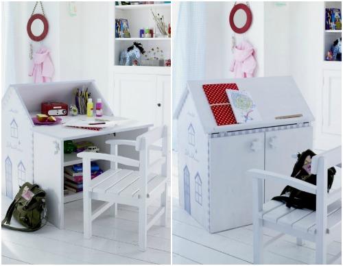 Детский стол с местом для хранения игрушек и вещей