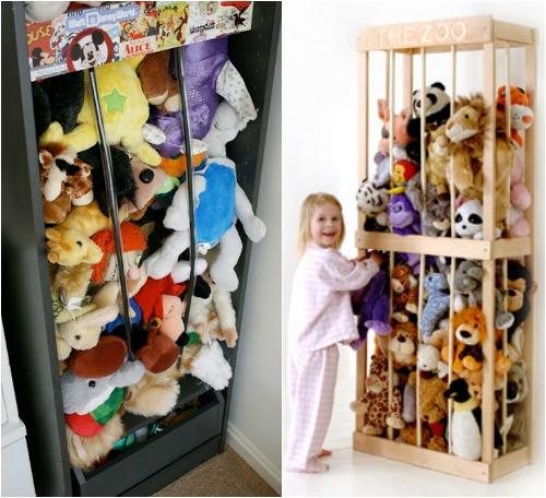 Идеи для хранения мягких игрушек фото