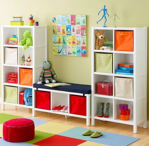 Красивая мебель для хранения игрушек и детских вещей