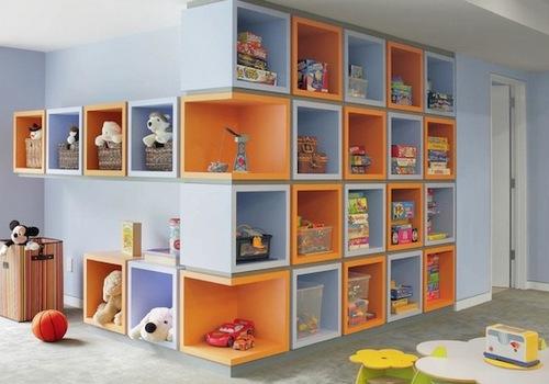 Стелажи настенные для детской комнаты