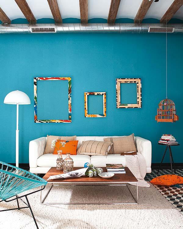 Красивый интерьер в бирюзовом цвете фото