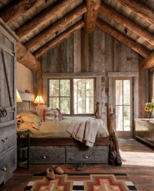 Спальня в деревенском стиле фото