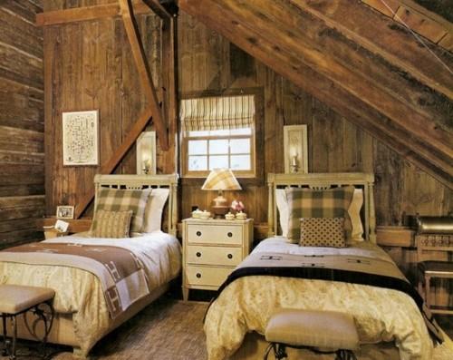 Детская спальня для двоих в деревенском стиле