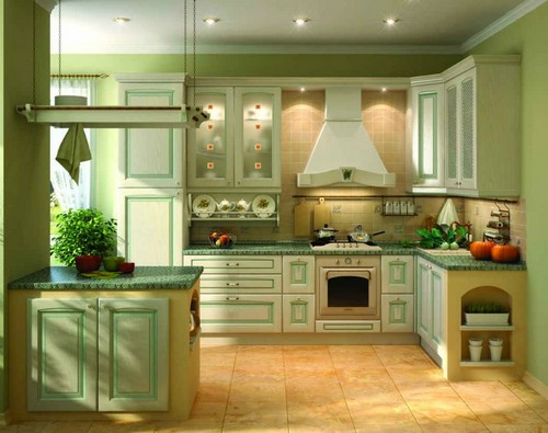 кухня фисташкового цвета