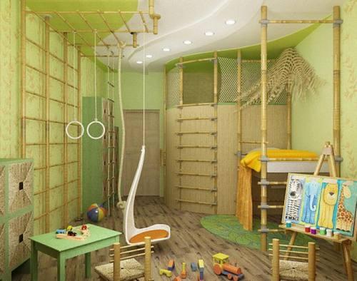 Фисташковый цвет в интерьере детской комнаты