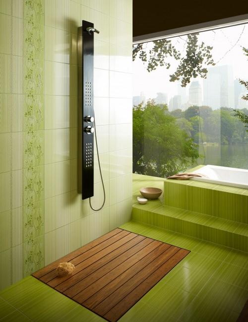 Использование фисташкового цвета в интерьере ванной