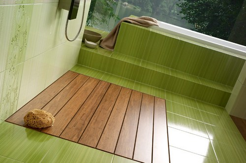 Плитка для ванной фисташкового цвета
