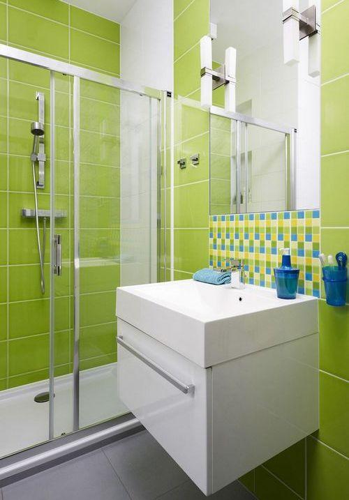Плитка для ванной фисташковая