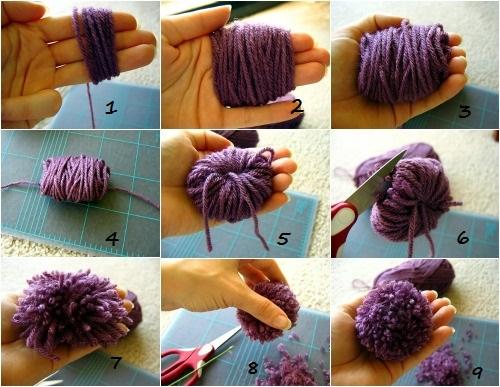 Как сделать помпоны для коврика своими руками