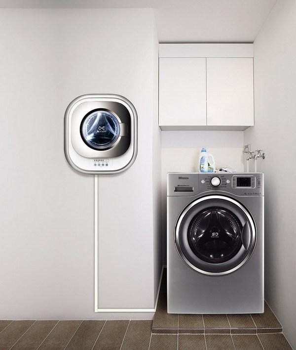 Настенная мини стиральная машина в интерьере