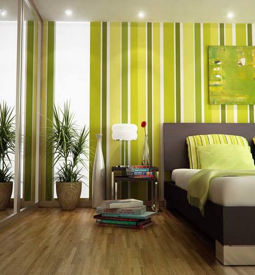 Спальня в оливково-зеленом цвете