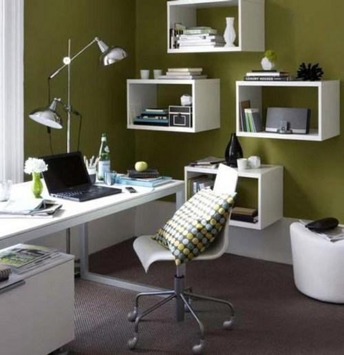 Сочетание оливкового цвета в интерьере с белым