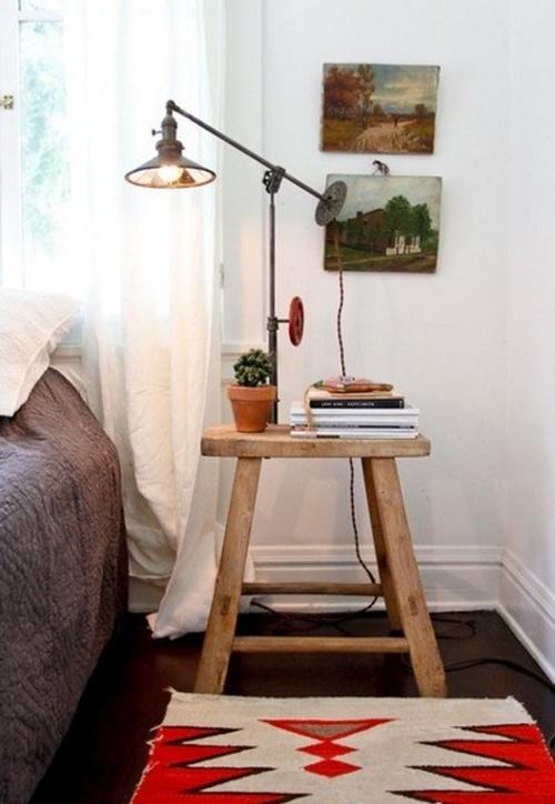 Коврик для спальни в сельском стиле фото