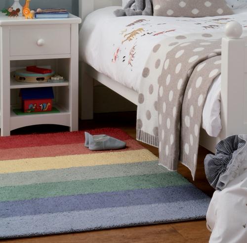 Полосатый коврик в детскую фото