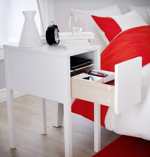 Белая тумбочка прикроватная фото