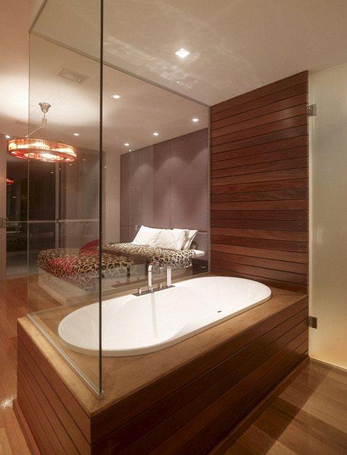 Спальня с ванной фото