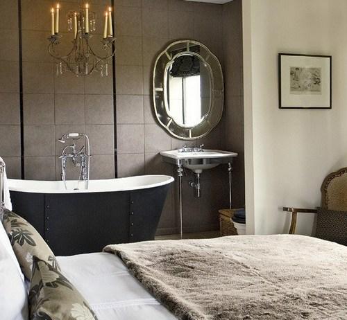 в спальне ванна фото