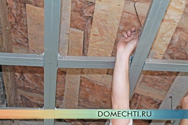 как правильно выровнять потолок