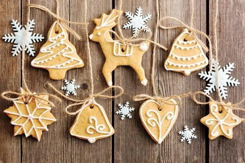 Вкусные гирлянды из рождественских пряников