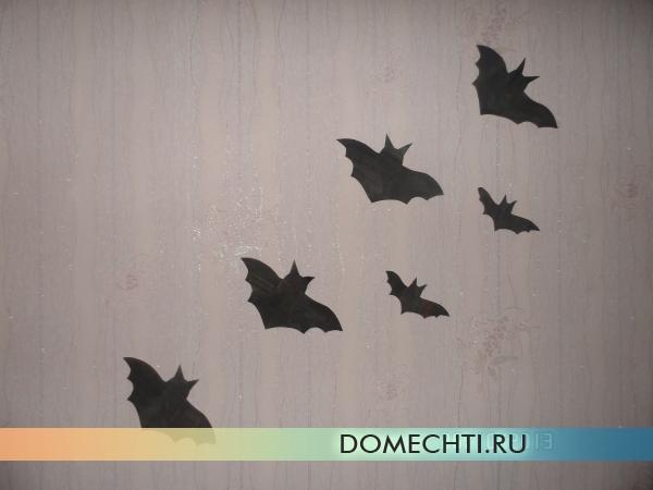 Поделки летучих мышей на Хэллоуин