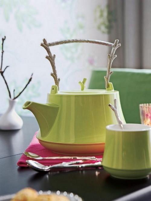 Декор посуды ветками фото
