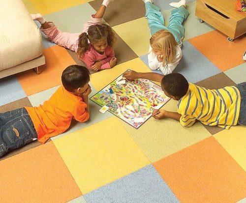 Ковровая плитка для детской