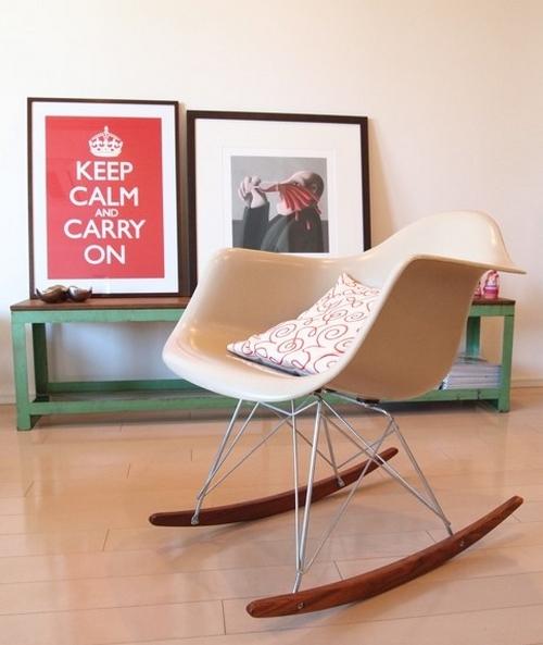 пластиковое кресло качалка