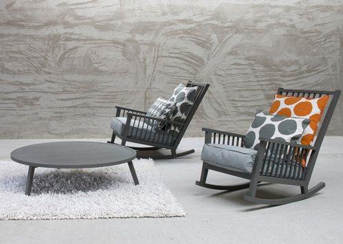 Современное кресло качалка Gervasoni