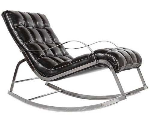 Черное кожаное кресло фото
