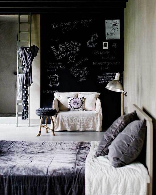 Меловая доска на стене фото