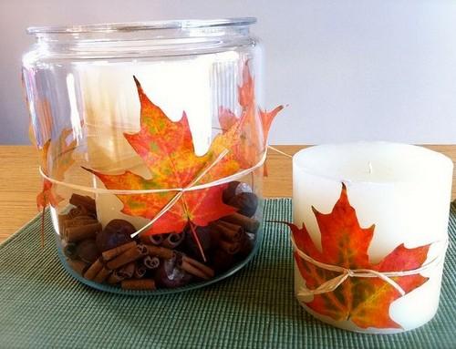 Осенние композиции с листьями в интерьере