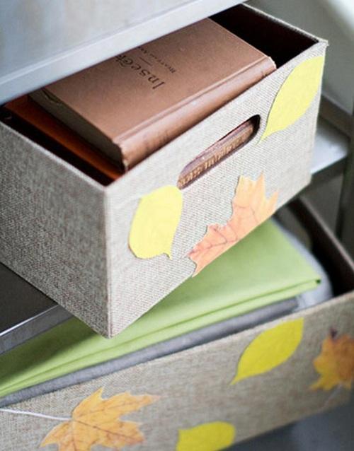 Украшение мебели листьями