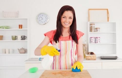 Уборка кухни без бытовой химии