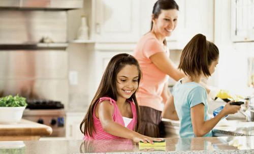 Уборка на кухне без моющих средств
