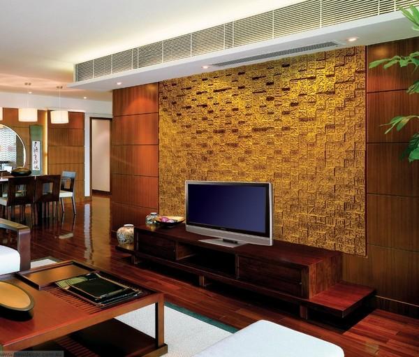 3D панели на стену золотого цвета