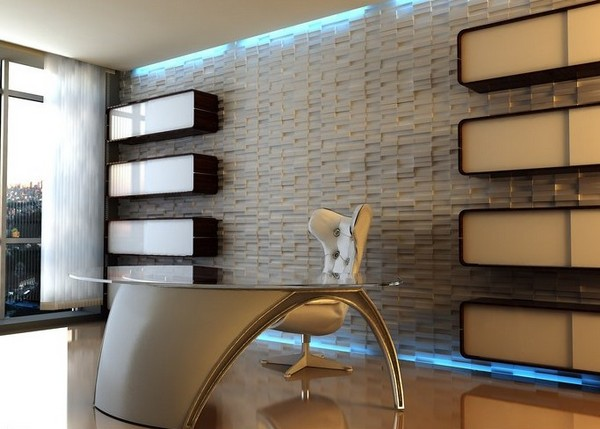 3D панели в современном интерьере