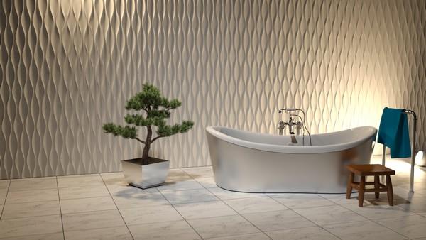 Панели 3Д для ванной комнаты