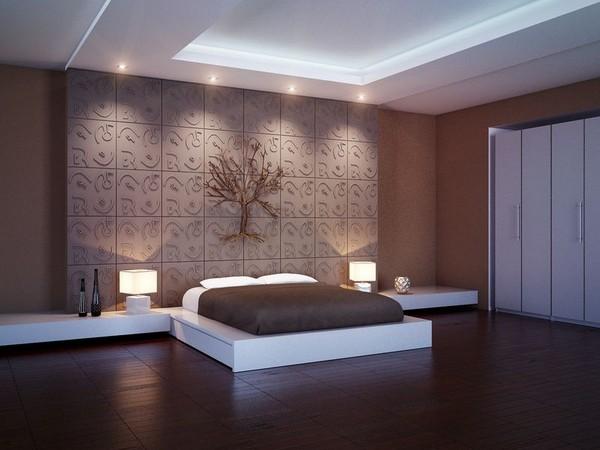Роскошные 3D панели для спальни