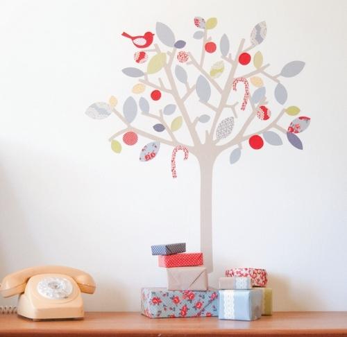стикеры на стену дерево