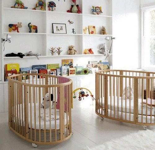 Интерьер комнаты для новорожденных двойняшек фото