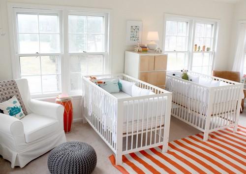 Комнаты для новорожденных близнецов фото