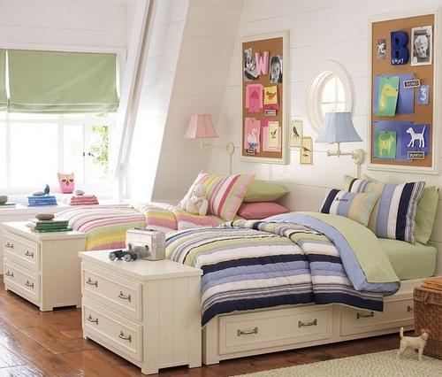 Детская комната для разнополых двойняшек
