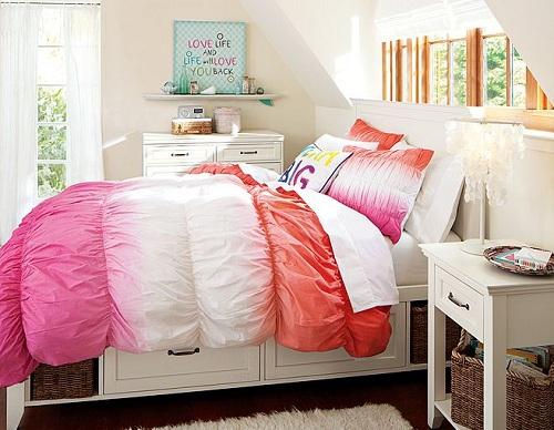 Мебель для комнаты девушки с местом для хранения