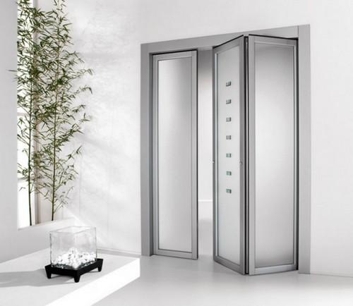 Стеклянная дверь-гармошка фото