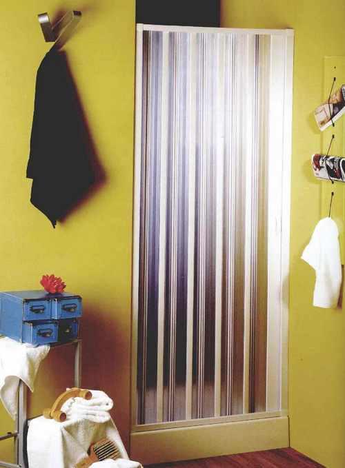 Шторка-гармошка для ванной фото