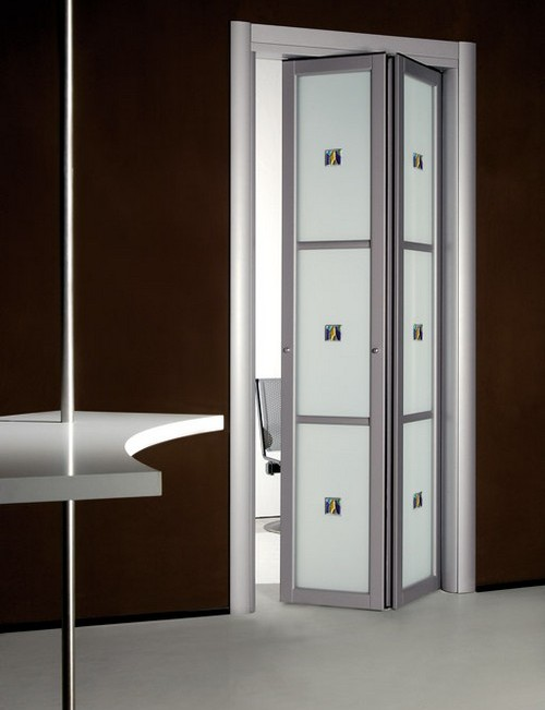 Дверь-гармошка для ванной