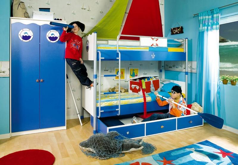 Оформление игровой зоны в комнате для двоих мальчиков фото