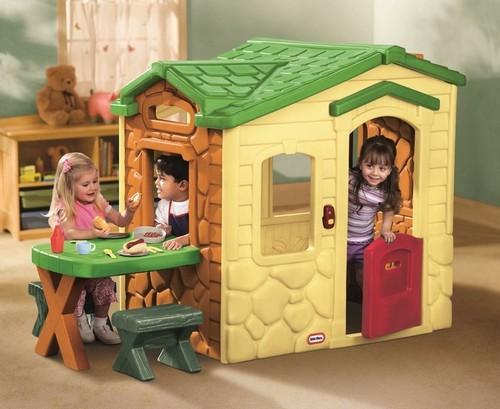 детский пластиковый домик игровой