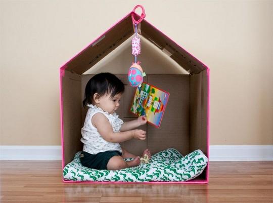Игровой домик из картона для малыша