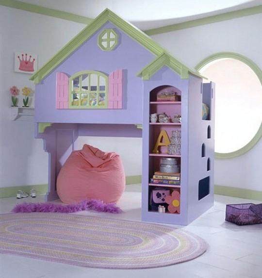 Кровать чердак в виде домика фото